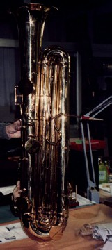 An ORSI reed contrabass, filmed on location in Milan